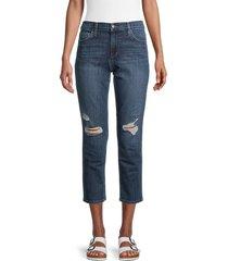 joe's jeans women's distressed boyfriend slim-fit jeans - lyon - size 23 (00)