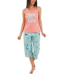nite nite by munki munki party animal capri pajamas set