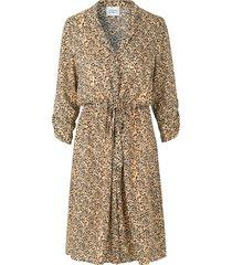 midi-jurk met print eli  bruin