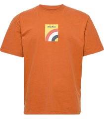 marvin t-shirt t-shirts short-sleeved orange makia