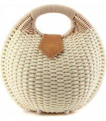 2017 fashion womens handbag rustic straw bag rattan bag handbag shell 6 colors b
