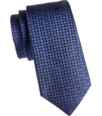 canali men's patterned silk tie - red