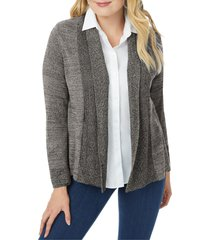 foxcroft open front a-line cardigan, size 2x in charcoal at nordstrom