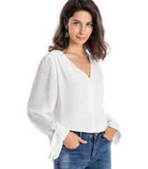 blusa botones blanco nicopoly