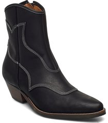 stb-arietta l shoes boots ankle boots ankle boot - heel svart shoe the bear