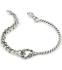 giacomo burroni designer men's bracelets, semi rigid twisted bracelet