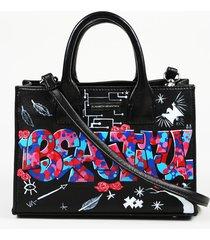 "elisabeth weinstock hand painted leather ""beautiful"" satchel"