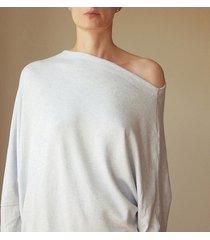 asymetryczny sweterek trapez szary