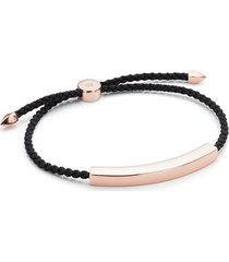 rose gold linear large men's friendship bracelet