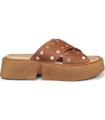 sandalia marrón micheluzzi