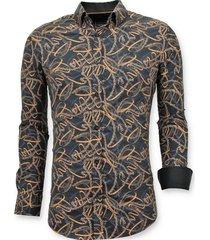 luxe stijlvolle overhemd online - digitale print - 3054