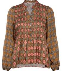 alison blouse blus långärmad multi/mönstrad odd molly