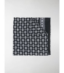 saint laurent bandana-print frayed scarf