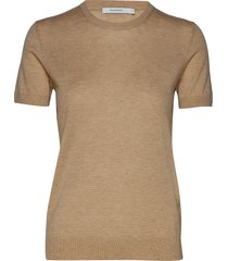 josefa sl knitted top t-shirts & tops knitted t-shirts/tops beige andiata