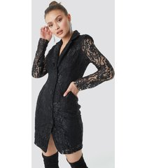 trendyol lace jacket dress - black