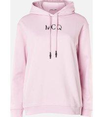 mcq alexander mcqueen women's boyfriend hoodie - bubblegum pink - l