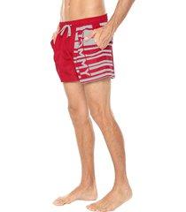 traje de baño rojo-blanco tommy hilfiger