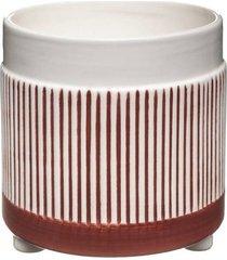 kwietnik ceramiczny osłonka stripes red