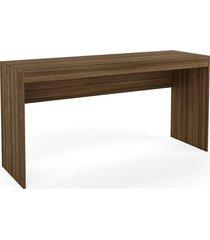mesa escritório castanho djd móveis marrom