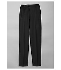 executive collection executive fit wool gabardine pleated dress pants by jos. a. bank