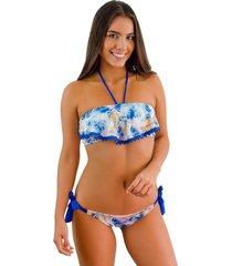 top tipo bolero tulum jessie de la rosa lingerie para mujer - azul