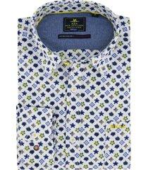 new zealand overhemd  hao hoa blauw geel