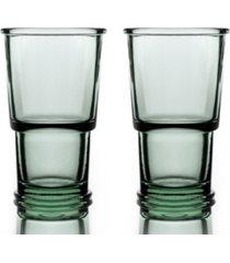 bomshbee ring wine highball glasses - set of 2