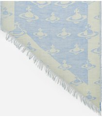 vivienne westwood women's all over logo scarf - royal blue