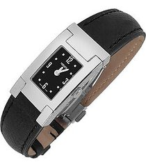 versace designer women's watches, on fifth -ladies' black leather watch
