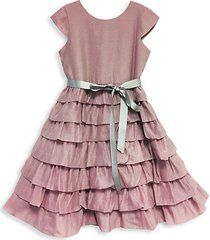 baby girl's & little girl's tiered a-line dress