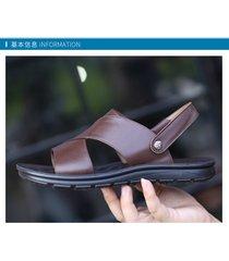 sandalias de hombre de deslizamiento inferior grueso