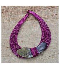 horn pendant necklace, 'zacsongo' (ghana)