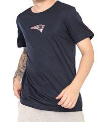 camiseta new era new england patriots azul-marinho - azul marinho - masculino - dafiti