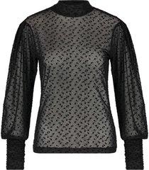 aaiko dona mesh & flock top black