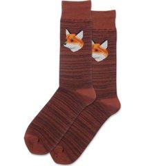 hot sox mens mr. fox crew socks