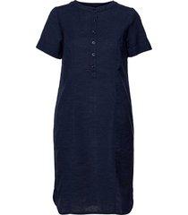 casual dress knälång klänning blå brandtex