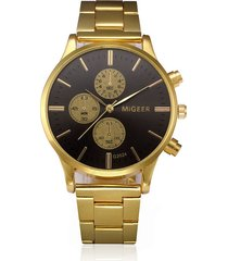 reloj hombre analogico vintage clasico s1118 dorado negro