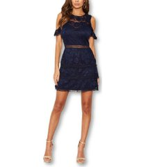 ax paris lace frill cold shoulder dress