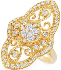le vian vintage diamond (7/8 ct. t.w.) ring in 14k gold