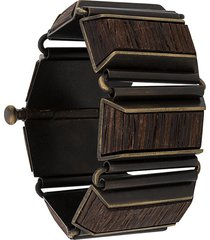 gianfranco ferré pre-owned 2000s wooden bangle bracelet - brown