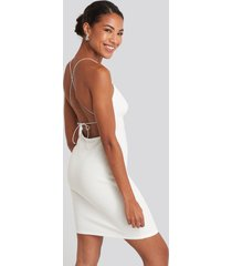 na-kd party open back jersey dress - white
