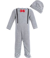 first impressions baby boys bow tie suspender coverall, created for macy's