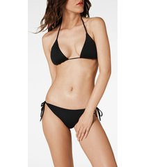 calzedonia indonesia padded triangle bikini top woman black size 2