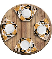 jogo americano love decor para mesa redonda wevans moderno natal