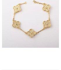 gold motif cluster bracelet