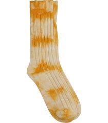 stussy socks in orange cotton