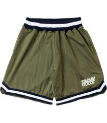 stadium goods logo mesh shorts - green