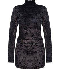 hooked velvet dress