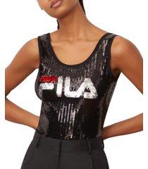 fila priti sequined sleeveless bodysuit