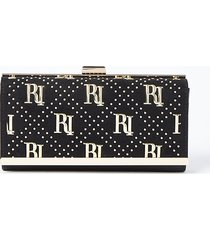 river island womens black ri studded cliptop purse